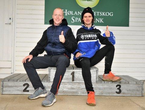 VIL PÅ PALLEN: Både Christian Illidi (t.v.) og Martin Nordvang jakter pallplasseringer under lørdagens enduroløp på Bjørkelangen.
