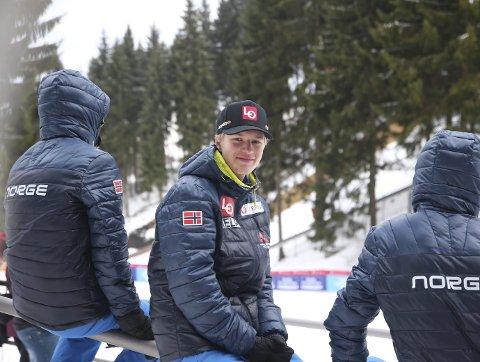 Ole Kristian Baarset: Kunne blitt den første fra Botne Skiklubb til å hoppe 200 meter under prøvehopping i Vikersund og Raw Air. Foto: Erik Borg