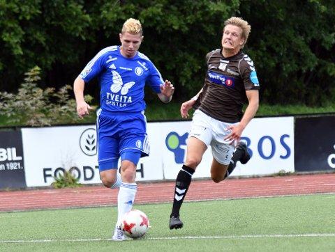 SCORET: Wilhelm Osman Adra banket inn 1-0 målet etter 43 minutter for Oppsal