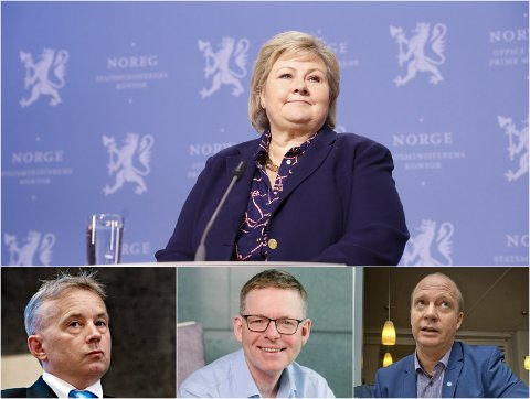USIKKERT: Sju statsrådposter blir ledige etter at Frp bestemte seg for å gå ut av regjeringen. Næringslivstopper og politikere i Innlandet mener det er en god anledning for det nye fylket.