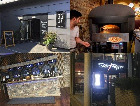KONTROLLERT: 37 Eatery, Fauno, Den gode nabo og Salt & Pepper er blant restaurantene som fikk besøk av skjenkekontrollører i november.