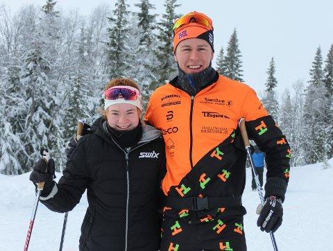 Karen Amalie Nordseth og Simen Bratberg Ramstad ble totalvinnere i Snertingdalsrennet.