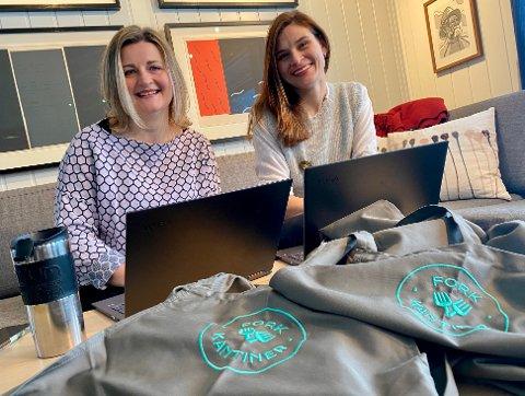 BYGGER SEG OPP IGJEN: Linda Grenlund-Tokerød (t.v.) og Laura Spangholt hadde stor suksess med Fork Kantiner frem til pandemien kom. De har måtte si opp 13 ansatte underveis, men de har ingen planer om å kaste inn håndkleet.