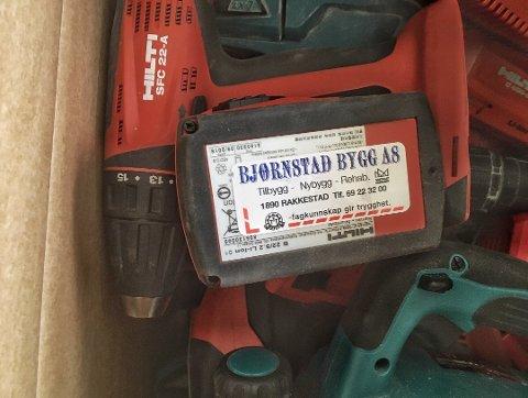Beslag: Bjørnstad Bygg er ett av firmaene som ble frastjålet verktøy.