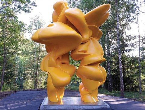 Denne skulpturen signert Sir Tony Cragg blir innlemmet i en faste skulpturparken til Kistefos-Museet.