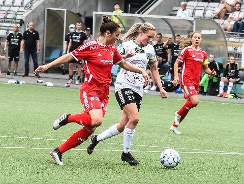 HERJET OVER ALT: Silje Nyhagen var  i skikkelig spillehumør, og ikke lett å stoppe for gjestene fra nord.