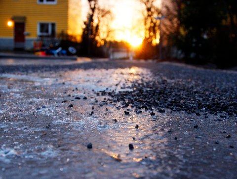 PENT: Det blir kaldt og kjølig i Sarpsborg. Foto Lise Åserud / SCANPIX .