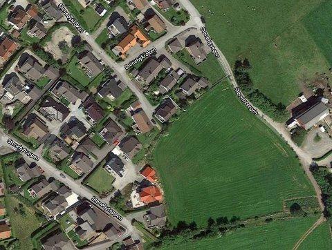 På denne marken mellom Stenebytoppen og Stenebyvegen vil Optimera sikre flere vekst i sørabygda.