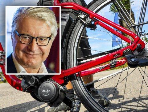SKUFFET: Fabian Stang fikk sykkelbatteriet stjålet: – Jeg blir mer lei meg på vegne av de som har det sånn at de gjør slike ting, enn for selve batteriet, sier Fabian Stang.