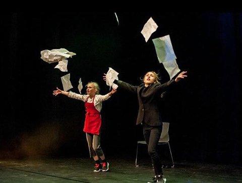 Imponerte: Erle Andresen Fredø og Amélie Solgård-Jensen skal til landsfinalen i Trondheim med dansen om mye lekser.