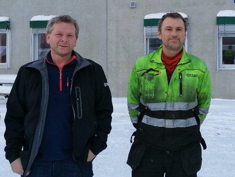 Carbonworks: Torstein Otten (t.v.) er ny styreleder og Harald Ottem er ny daglig leder i Ottem Carbonworks AS. Arkivfoto.