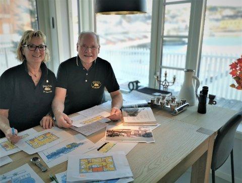Kari Hannemyr og Oddvar Halvorsen  har gjennom lengre tid presentert planene de har for Tollboden sammen med Bernt Bertelsen og USA-bosatte Harald Lindstøl.