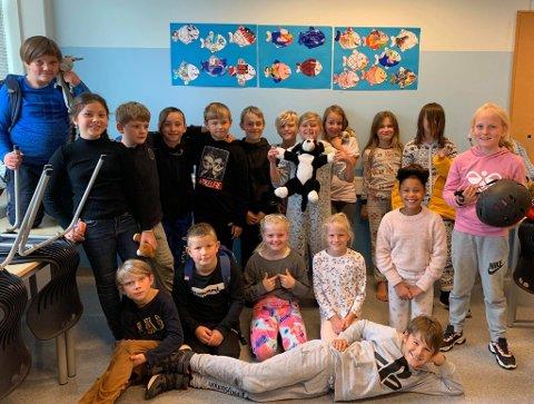 MILJØBIDRAG: Elevene på Liknes barneskole har gjort en stor innsats.