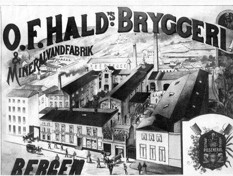 ORIGINALEN: O.F. Hald Bryggeri solgte produksjonslokalene til Hansa for nær hundre år siden og forsvant så fra markedet.FOTO: UKJENT