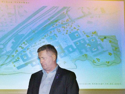 REAGERER KRAFTIG: Ordfører i Drammen Tore O. Hansen mener politikerne i Asker og Bærum tar helt feil når de vil bygge ut nytt sykehus i Drammen på dagens tomt fremfor Brakerøya.