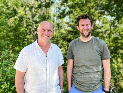 GRÛNDERE: Lars Sandtorv og sønnen Sebastian (29) har startet opp Ecofric AS.
