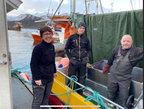 Bildet viser Viviann Hansen (tv), Thomas Fossmo og Jostein Pedersen