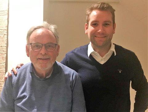 TOPPDUO: Jacob Nødseth t.h. frå Florø og Edvard Iversen frå Raudeberg toppar Kinn Venstre si liste til valet i september.