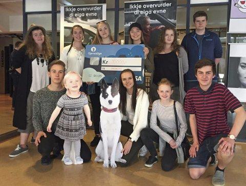 VANN I 2016: Desse elevane frå Hafstad hadde den beste kampanjen mot ruskøyring under Death trip i 2016.