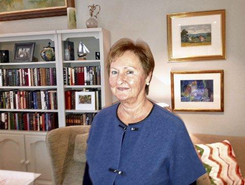 2019: Berit-Julie Pedersen har opplevd mye, men vil 75-årsjubilanten helst tenke i nåtid og fremtid. FOTO: PRIVAT