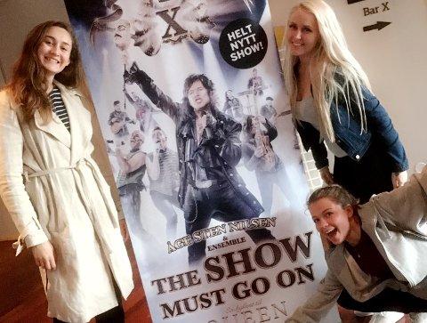 SHOW: Johanne Ekhoff, Camilla Larsen og Juliane Berglund er å se på scenen.