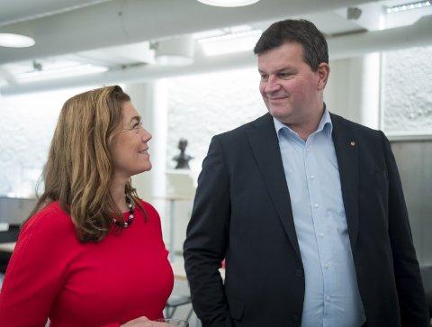 SVART ARBEID: LO-leder Hans-Christian Gabrielsen og NHO-direktør Kristin Skogen Lund må etablere en mer forpliktende innsats mot arbeidslivskriminalitet.