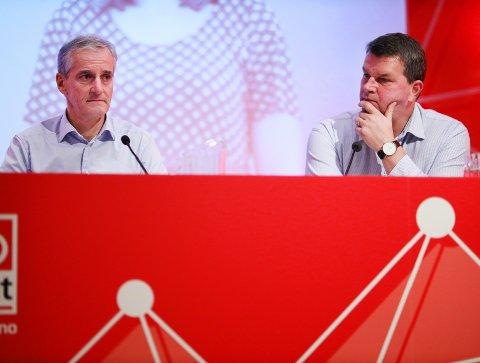 PRESSES: Jonas G. Støre og Hans-Christian Gabrielsen er under press i EØS-debatten.