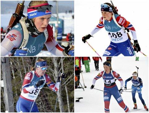 Juni Arnekleiv (øverst t.v.), Sigrid Bilstad Neraasen, Sivert Bakken og Karoline Knotten er alle tatt ut på U23 og utviklingslandslag kommende sesong.