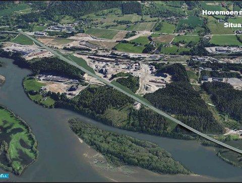 SATSING: Ny E6 bidrar til å frigjøre nye næringsarealer for Lillehammer – i Hovemoen.