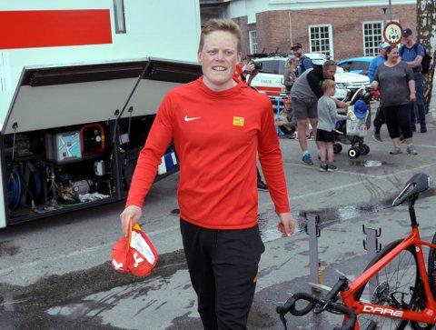 Anders Skaarseth vant en etappe under et internasjonalt ritt på søndag.