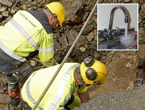Kommunale vannledninger lekker. Utbedring av ledningsnettet krever milliardinvesteringer. Arkivfoto