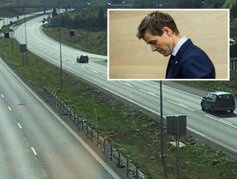 E6: Samferdselsminister Knut Arild Hareide  kan feire at motorvegstandarden på E6 strekker seg nordover, men litt lenger nord er fartsgrensa 40 km/t.