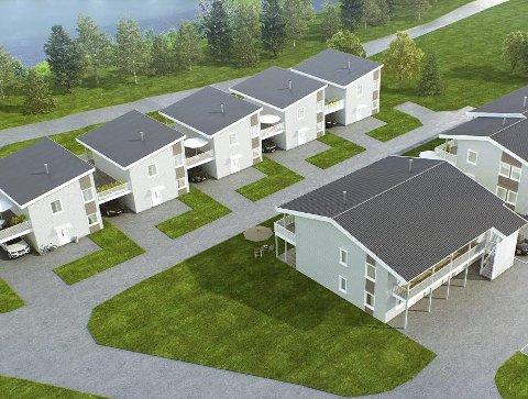 BOLIGER: Fem eneboliger i kjede og ti leiligheter på Granumstranda.