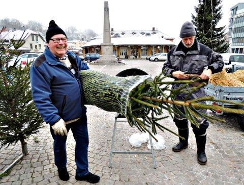 TENKTE IKKE PÅ DET: Odd Jonassen var på plass for å sikre seg årets juletre og la ikke merke til at byprivilegiet på Nordmandsstøtten nå er fjernet.