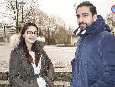 OPPVOKST I NORGE: Nadia Zanwer Ghaderi og Haroon Butt er begge oppvokst Norge, men flyktningkrise og terrorhandlinger har gjort innvandrerdebatten skarpere. Som godt integrerte i Norge merker de ingen forskjell i hverdagen, men er litt bekymret for hvordan andre ser på dem.