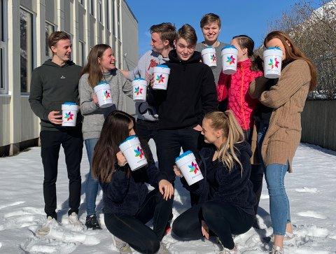 Omlag 50 russ frå Odda vidaregåande skule deltar i årets aksjon.