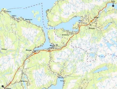 etne kart Haugesunds Avis   Foreslår ny E 134 langt fra Knapphus etne kart