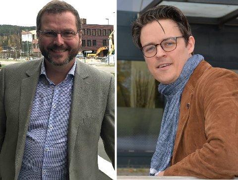– Vi har ikke trukket oss fra avtalen med kommunen, sier Johan Tørnby (t.h.), daglig leder i Kløver rådgivning. – Oppdraget er avsluttet, svarer Thomas Grønnerød-Hemmingby, enhetsleder i Aurskog-Høland kommune.