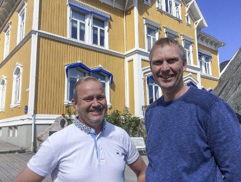 Innflytelse: Grunde Knudsen (t.v.) og Knut Jarle Sørdalen i Senterpartiet kan få betydelig innflytelse i det kommende kommunestyret. Dagens meningsmåling viser at Sp kan bli det nest største partiet med seks representanter.