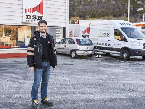 ULYKKE: - Når ulykken først skjedde er jeg glad for at det gikk bra med han, sier daglig leder Torfinn Dahlberg. Bildet er tatt i en annen sammenheng.
