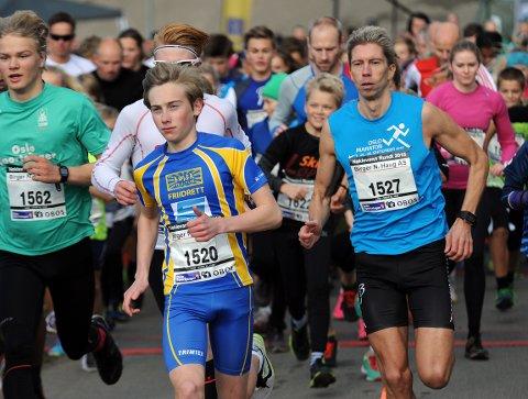 GUTSET PÅ: Sivert Eggen vant 14-15 års klassen overlegent da han deltok i Nøklevann Rundt lørdag.