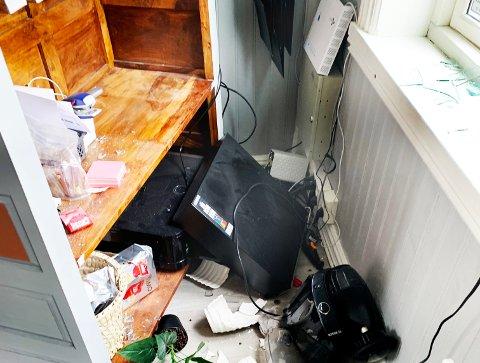 Her er noe av skadeverket. Foto: Privat