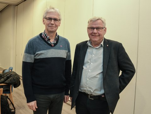 RINGVEGKAMERATENE: Trysilordfører Erik Sletten og Elverum-ordfører Erik Hanstad