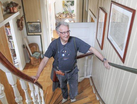 FINE ÅR: I 34 av de 80 årene Hans har levd, har han bodd i Ørsnesalleen. Først i huset rett over gata, så i villaen i Ørsnesalleen 10.