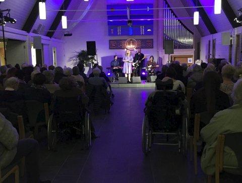 Konsert: Bilde  fra kirkekonsert i regi av Den kulturelle spaserstokken i Stathelle kirke i 2017.