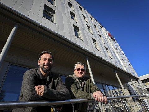 NHG: – Som navnet tilsier skal vi i Northern Hospitality Group være et selskap som skal operere i regionen her, og vi skal tilby hyggelige opplevelser, sier Rune Devig Andreassen (t.v.) og Espen Haaland. Foto: Øyvind Bratt