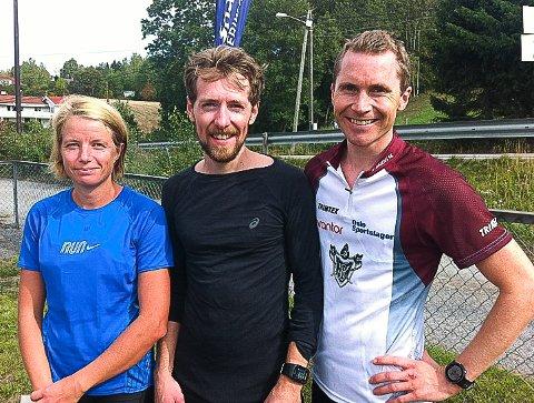 RASKEST: De raskeste i lørdagens Mosjøløp. Fra venstre: Silje Skaar Moe, Daniel Olsen og Einar Tommelstad.