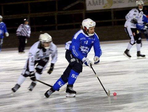 SEIER: Tomåls-scorer Anders Olsson og SBK tok sesongens første seier på borteis i Drammen.