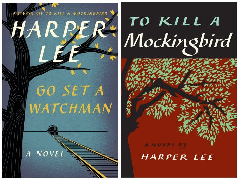 *** Local Caption *** Den nygamle boken til Harper Lee, «Go Set a Watchman», slik den ser ut i amerikanske HarperCollins Publishings drakt  med samme forlags utgave av «To Kill a Mockingbird».