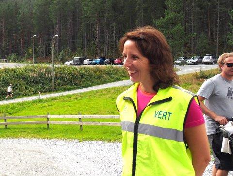 AKTIVITET: Leiar for orienteringsgruppa Jorunn Aa Albretsen fortel at mange allereie har teke i bruk Usling O appen.